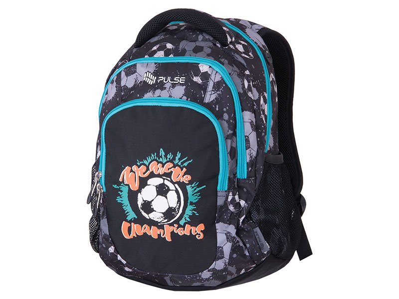 RUKSAK PULSE TEENS BLACK FOOTBALL
