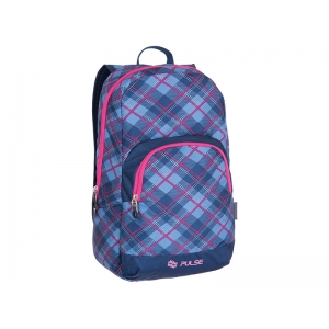 RUKSAK PULSE SOLO PINK PLAID